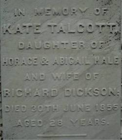 Katharine Talcott Kate <i>HALE</i> Dickson