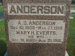 Mary Helen Nellie <i>Everts</i> Anderson