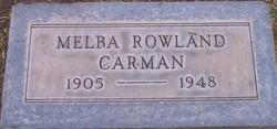 Melba <i>Rowland</i> Carman