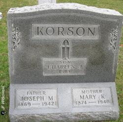 Mary K. <i>Maresh</i> Korson