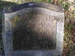 Sarah Jane <i>Holder</i> Baker