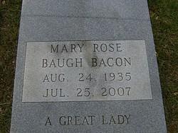 Dr Mary Rose <i>Baugh</i> Bacon