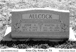 Josie Allen <i>Robbins</i> Allcock