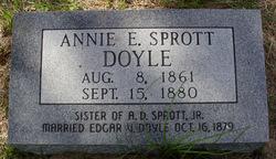 Annie E <i>Sprott</i> Doyle