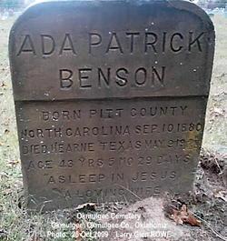 Ada <i>Patrick</i> Benson