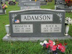 Alice K. <i>Beckort</i> Adamson