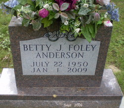 Betty Joanne <i>Foley</i> Anderson