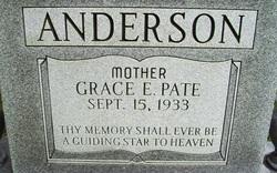Grace E <i>Pate</i> Anderson