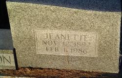 Amanda Jane Jeanette <i>Lewis</i> Richardson