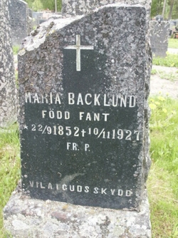 Maria <i>Fant</i> Backlund