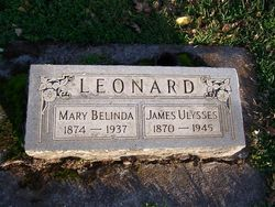 Mrs Mary Belinda Mollie <i>Kimberling</i> Leonard