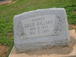 Lillie Susan <i>Harris</i> Ballard