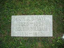 Mary Ann <i>Bowman</i> Hayes