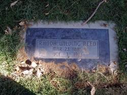 Rhoda <i>Wilding</i> Reed