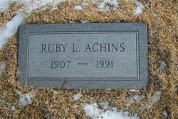 Ruby L <i>Hickok</i> Achins