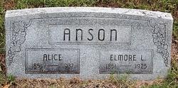 Alice or Elizan Ann <i>O'Neall</i> Anson