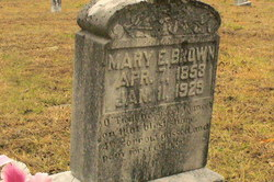 Mary Elizabeth <i>Souther</i> Brown
