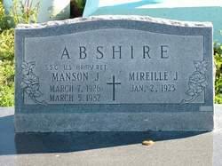 Manson J Abshire
