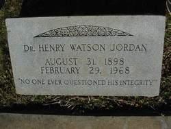 Dr Henry Watson Jordan