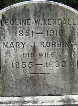 Mary Jones <i>Robbins</i> Kendall