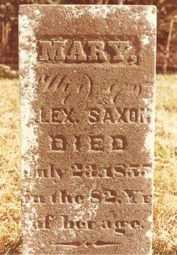 Mary <i>Baldwin</i> Saxon