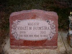 Violet Mae <i>Schliemann</i> Duimstra
