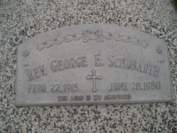 George E Schubarth, Rev