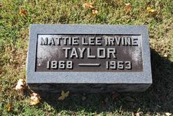 Mattie Lee <i>Irvine</i> Taylor
