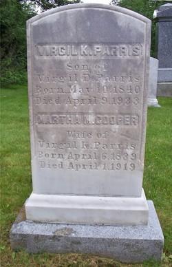 Martha M. <i>Cooper</i> Parris