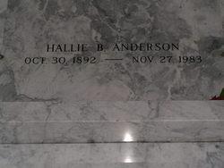 Hallie T <i>Brennesholtz</i> Anderson