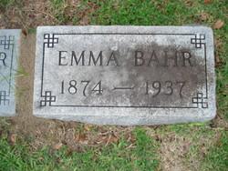 Emma <i>Miller</i> Bahr