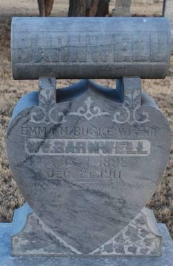 Emma M <i>Buske</i> Barnwell