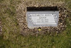 Elizabeth Beryl Shaw