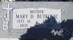 Mary D <i>Radosevich</i> Butkovich