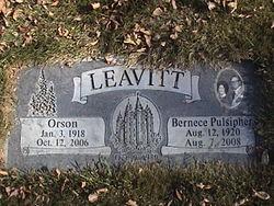 Bernece <i>Pulsipher</i> Leavitt