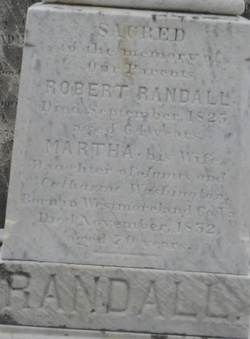 Martha <i>Washington</i> Randall