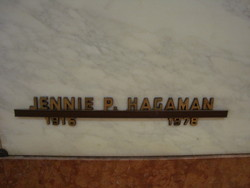 Jennie Pauline <i>Eldridge</i> Hagaman