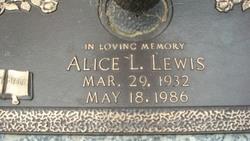 Alice L Lewis