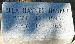 Ella <i>Haynes</i> Hebert