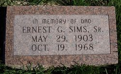 Ernest G Sims, Sr