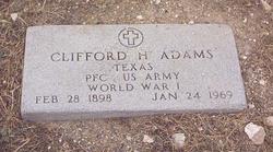 PFC Clifford H Pete Adams