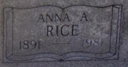 Anna A Rice