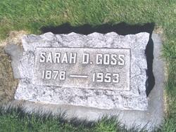 Sarah D. <i>Barshaw</i> Goss