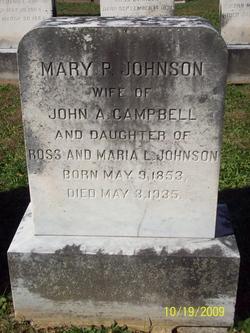 Mary P <i>Johnson</i> Campbell