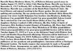 Narvelle Nancy <i>Newberry</i> Altom