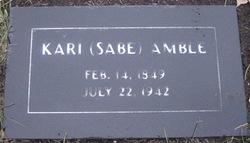Kari <i>Sabe</i> Amble