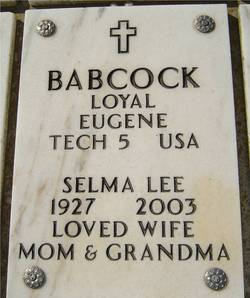 Selma Lee <i>Williams</i> Babcock