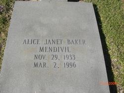Alice Janet <i>Baker</i> Mendivil
