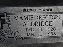 Mamie <i>Rector</i> Aldridge
