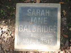 Sarah Jane <i>Hickson</i> Baldridge